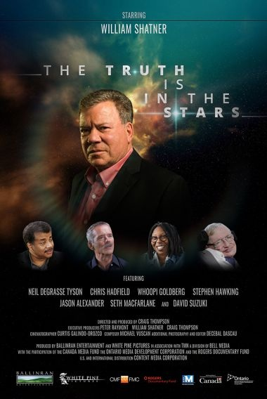 The Truth is in the Stars documentary produced by William Shatner with White Pine Pictures and directed by Craig Thompson w/Netflix - Set Stills + Portrait